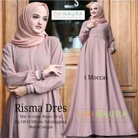 Gamis Terbaru Polos Baju Muslim Wanita Risma Dress Ori NRA