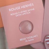 rouge hermes satin lipstick 16 beige tadelakt sample card