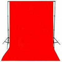 Backdrop Background Foto Merah Polos 200 x 290 Cm Red Screen Tebal