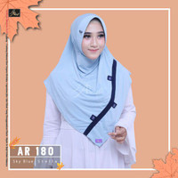 jilbab instan Eskudo Eida Button kombi Arrafi AR 180 hijab kerudung