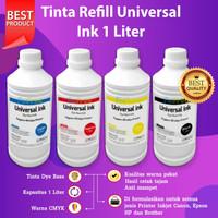 1 SET 4w Tinta Epson 1 Liter Refill Printer L220 L220 L350 L3150 L1110