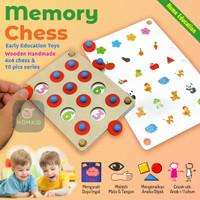 Mainan Edukasi Anak Permainan Papan Daya Ingat Memory Chess Montessori
