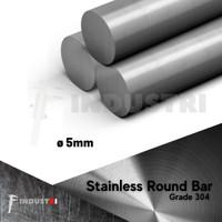 AS SUS 304 diameter 5mm |AS besi stainless per 1 meter