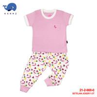 Baby Lona Tropical Flamingo Setelan Jogger Baju Anak Bayi Lucu 1-3 Tah