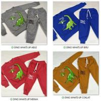 Setelan Sweater Jogger Anak Motif Dinosaurus Terlaris Baju Anak