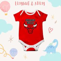 Baju jumper bayi unik lucu motif karakter klub basket chicago bulls