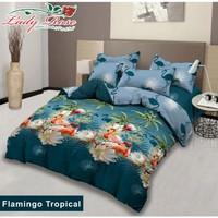 bed cover lady rose sprei karet no2 uk 160x200 motif Flamingo Tropical