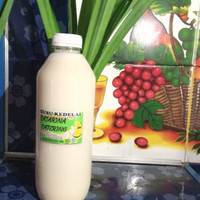 susu kacang kedelai murni botol /1.liter