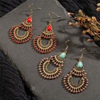 Anting Gemstone Batu Tassel Bohemian Boho Etnik Gantung Hijabers India