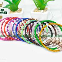 Gelang Tali Kawat Anti Air Waterproof Wire Rope Untuk Charm Emas