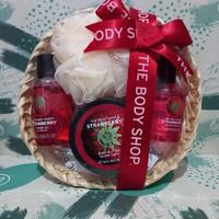 the body shop strawberry gift paket seserahan kado body mist Murah ori