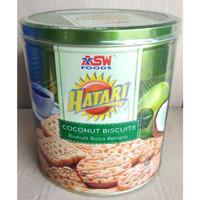 Hatari Coconut Biskuit Rasa Kelapa Kaleng Renyah [325 gr]