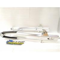 Swing Arm Fork Supit Belakang CB Kaze VRossi Rossi Aluminium GL Silver
