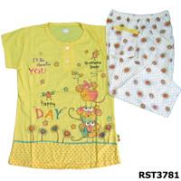 Baju Tidur Bahan Kaos Size M Nyaman Dipakai - Kuning