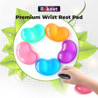 Rokeet Mousepad Mouse Wrist Pad Rest Jelly Comfort Silicone Transparan