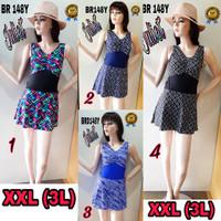 Baju renang wanita dewasa BRD 148Y size XXL