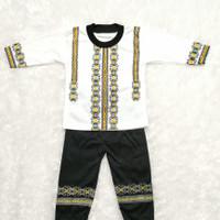 COD Pakaian Muslim Baju Koko Bayi Laki-Laki 2-10 Bulan Sablon Warna