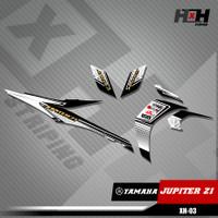 Sticker Stiker Variasi Lis Motor Jupiter Z1 Motif Racing XH.03 - Hitam
