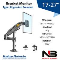 Bracket Braket Arm TV/Monitor LED 17-27 Inch PC Gaming/Office