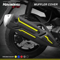 Hayaidesu Muffler Knalpot Body Protector Cover Honda PCX 160