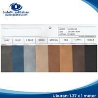 Kulit Imitasi / Bahan Sintetis / PVC Leather (Oscar) - Sahara