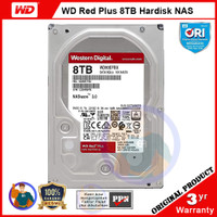 WD Red Plus 8TB Hardisk NAS - CMR, 7200RPM, 256MB Cache - WD80EFBX