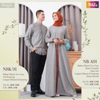 Couple Nibras NB A91 NSK 091 / Couple Baju Muslim / Couple Family