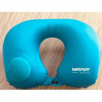 Romix Bantal Leher Travel Inflatable Neck Pillow - RH34 Biru