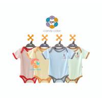 NOVA Baju Kodok Segitiga - Jumper Bayi 0-9 Bulan (Candy Color)