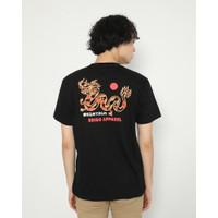 Kaos Pria Erigo T-Shirt Dragon Fire Cotton Combed Black