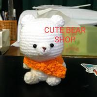 Amigurumi Crochet Boneka Rajut/Souvenir Ayam Kerbau Beruang Custom