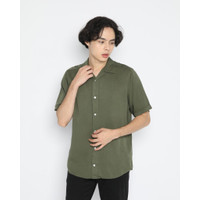 Kemeja Pria Erigo Short Shirt Othieno Rayon Army