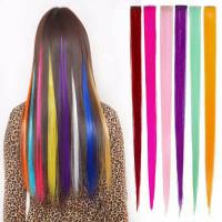 Hair clip Highlight Wig/ Hqir Clip On Extention Ombre Warna Warni/Head