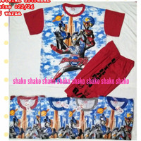 SHAKO Baju Kaos Stelan Jumbo Karakter ULTRAMAN Pakaian Anak Laki Laki
