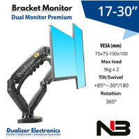 Bracket Braket Arm Dual TV/Monitor 17-30 inch PC Gaming/Office