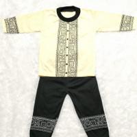 Pakaian Muslim Baju Koko Bayi Laki-Laki 2-11 Bulan Sablon Warna