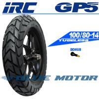 IRC GP5 100/80-14 RING 14 BAN MOTOR MATIC TUBELESS DUAL PURPOSE HONDA