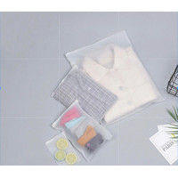 Zipper travel bag pouch kantong plastik travel polos
