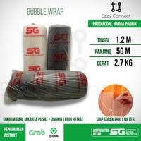 Bubble Wrap SG SIAP SOBEK 120 cm x 50 meter - Bubble Wrap Hitam Bening