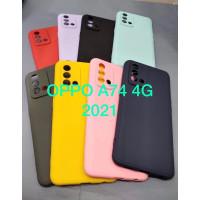 Case Oppo A74 4G New Softcase Candy Tpu Liquid Silicon Macaron Case