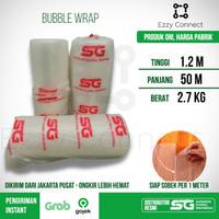 Bubble Wrap Bening SG SIAP SOBEK 120 cm x 50 meter