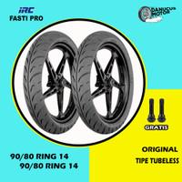 PAKET BAN TUBELESS MOTOR MATIC IRC FASTI PRO 90/80 - 90/80 Ring 14