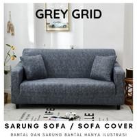 Elastic Sofa Cover Plain Sarung Penutup Sofa Elastis Stretch Polos