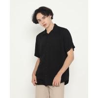 Kemeja Pria Erigo Short Shirt Jazlyn Rayon Black