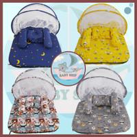 Kasur Bayi Kelambu Lipat / Tempat Tidur Set Bantal Guling