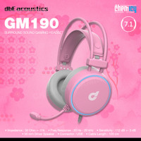 dbE GM190 Pink Edition 7.1 Virtual Surround Sound Gaming Headset