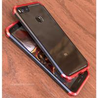 Luphie Xiaomi Mi A1 Aluminium Bumper Case Glass Back Hard Cover MiA1