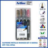 SPIDOL ARTLINE PERMANENT SUPREME METALIC MARKER SET EPF-790/4PW1