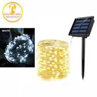 Lampu Hias Dekorasi pesta / natal USB Powered 100 LED 10M Solar Panel