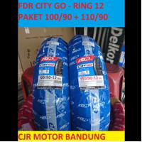 PAKET SEPASANG FDR City Go 100 + 110 ring 12 Ban Motor Scoopy Vespa